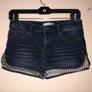 Dark Blue shorts for Girls